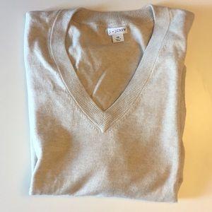 J. Crew Factory Cotton VNeck Sweater - XS - Beige
